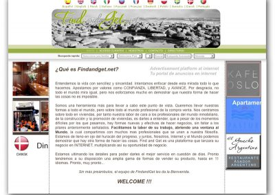 Diseño sitio web Find and Get (Europa)